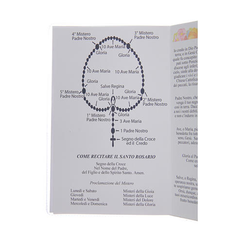 The Holy Rosary booklet in Italian 3
