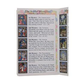 Libretto Il santo Rosario in lingua inglese s4