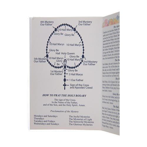 Libretto Il santo Rosario in lingua inglese 3