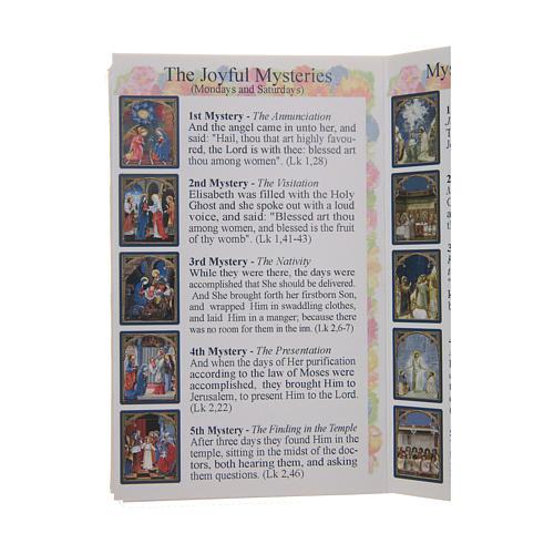 Libretto Il santo Rosario in lingua inglese 4