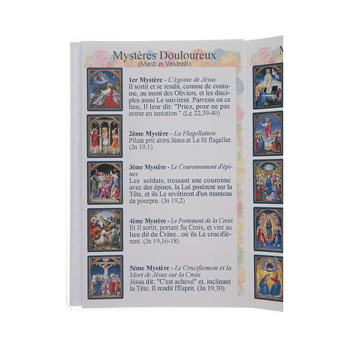 Libretto Il santo Rosario in lingua francese 4