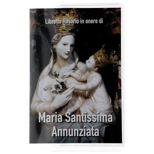Libretto rosario Maria SS. Annunziata e rosario ITA 1