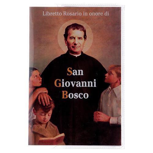 Libretto rosario S. Giovanni Bosco con rosario ITA 1