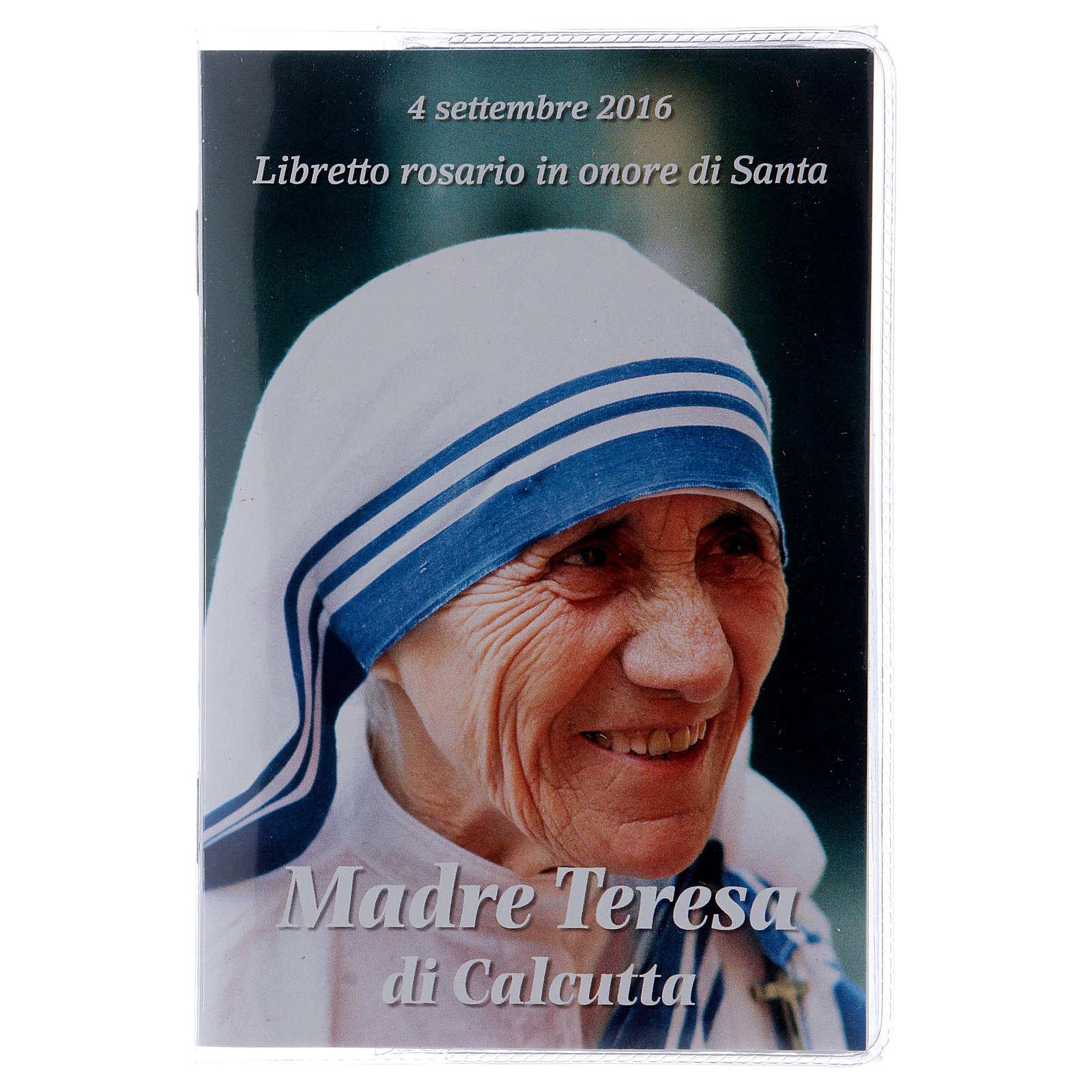 Libretto rosario Madre Teresa di Calcutta e rosario ITA 4