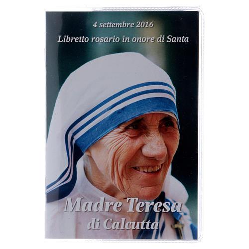 Libretto rosario Madre Teresa di Calcutta e rosario ITA 1