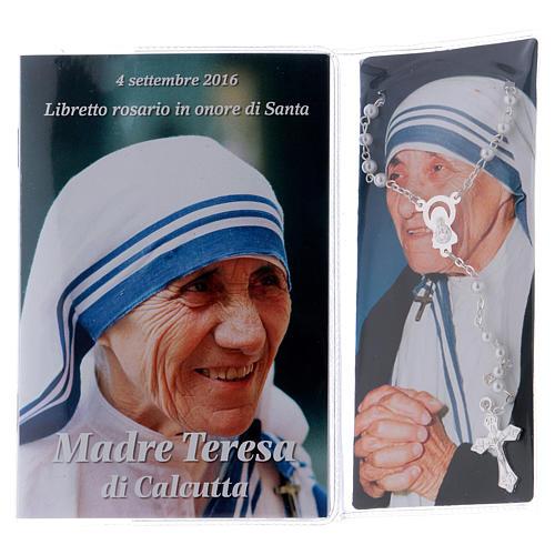 Libretto rosario Madre Teresa di Calcutta e rosario ITA 2