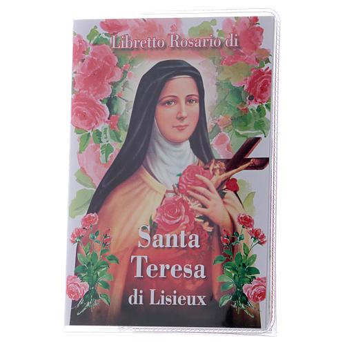 Libretto rosario Santa Teresa Lisieux e rosario ITA 1