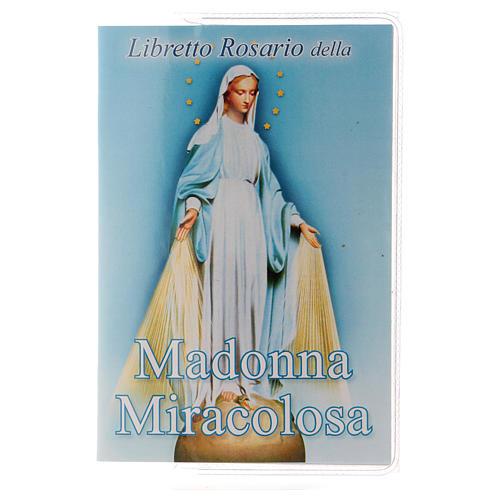 Libretto rosario Madonna Miracolosa e rosario ITA 1