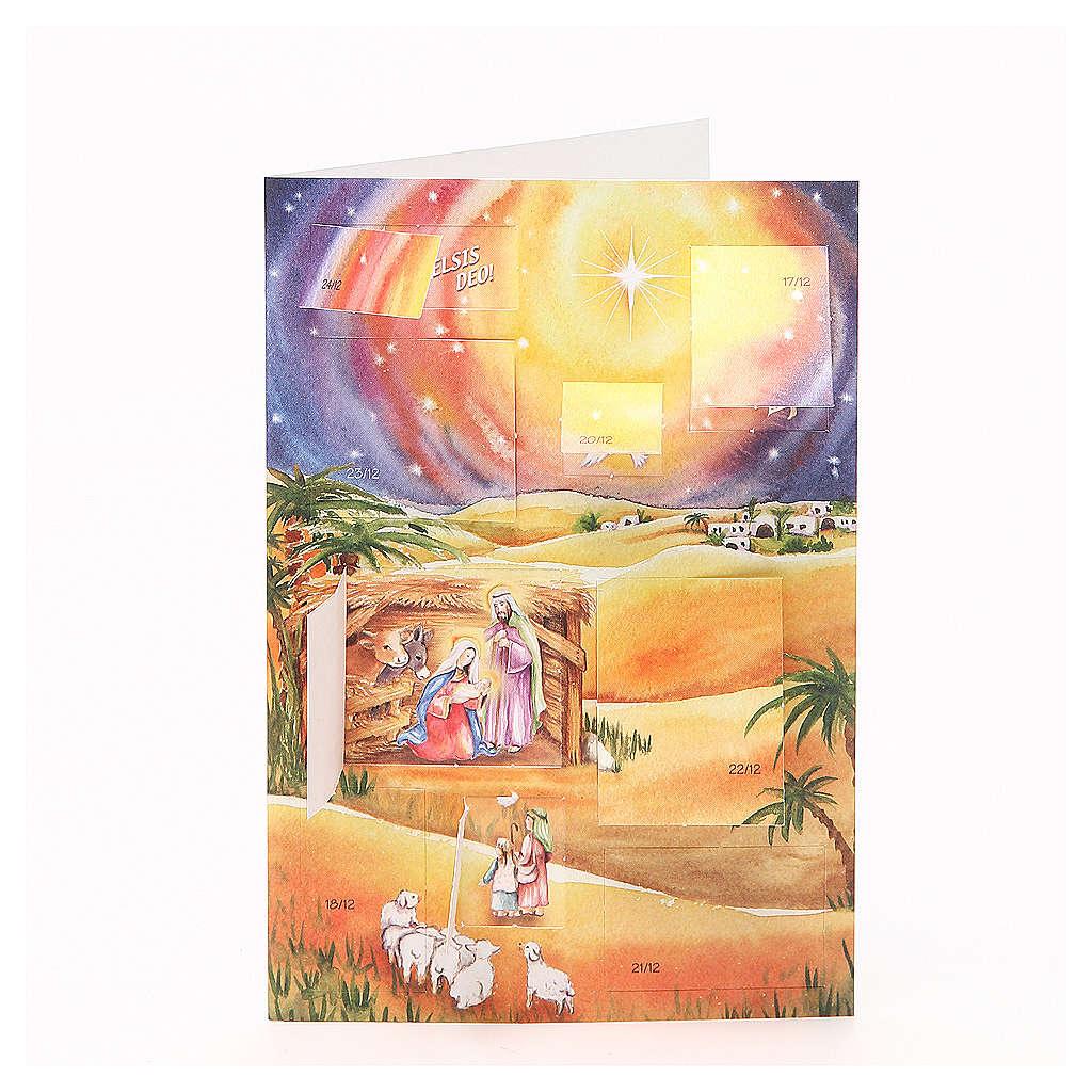 Carte postale, calendrier de l'Avent ITALIEN 4