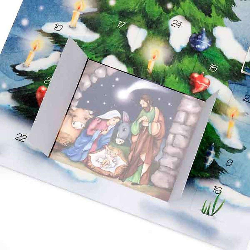 Biglietto calendario dell'avvento albero 4
