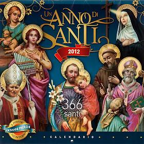 Un Anno di Santi Calendario 2012 s1
