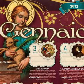 Un Anno di Santi Calendario 2012 s6