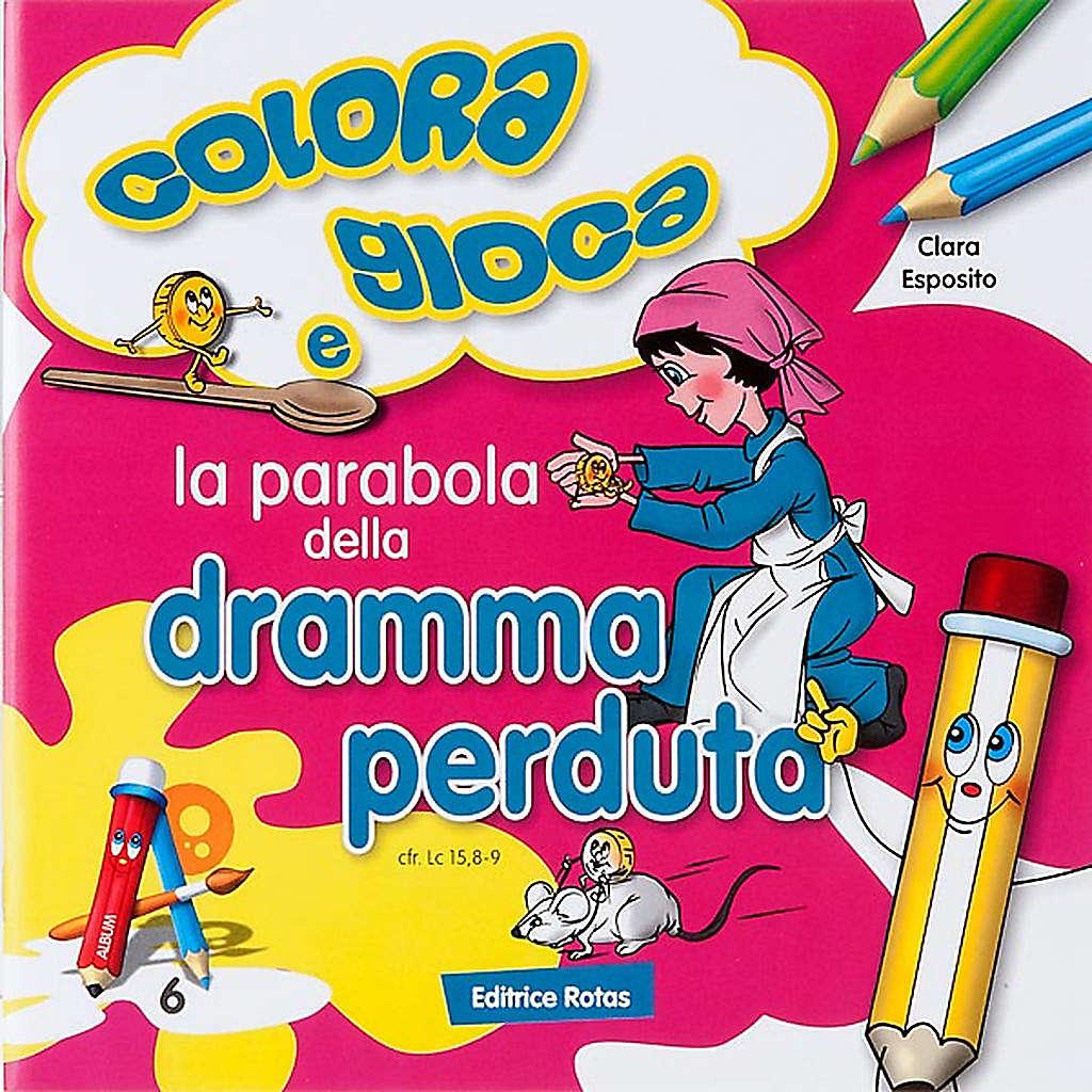 Coloriage,la parabole de la monnaie perdue ITA 4