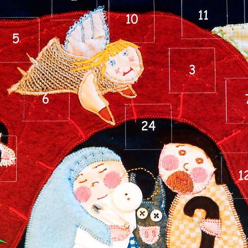 Calendário Advento estilo patchwork 2