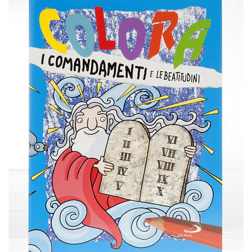 Colour the commandments and the Beatitudes 1
