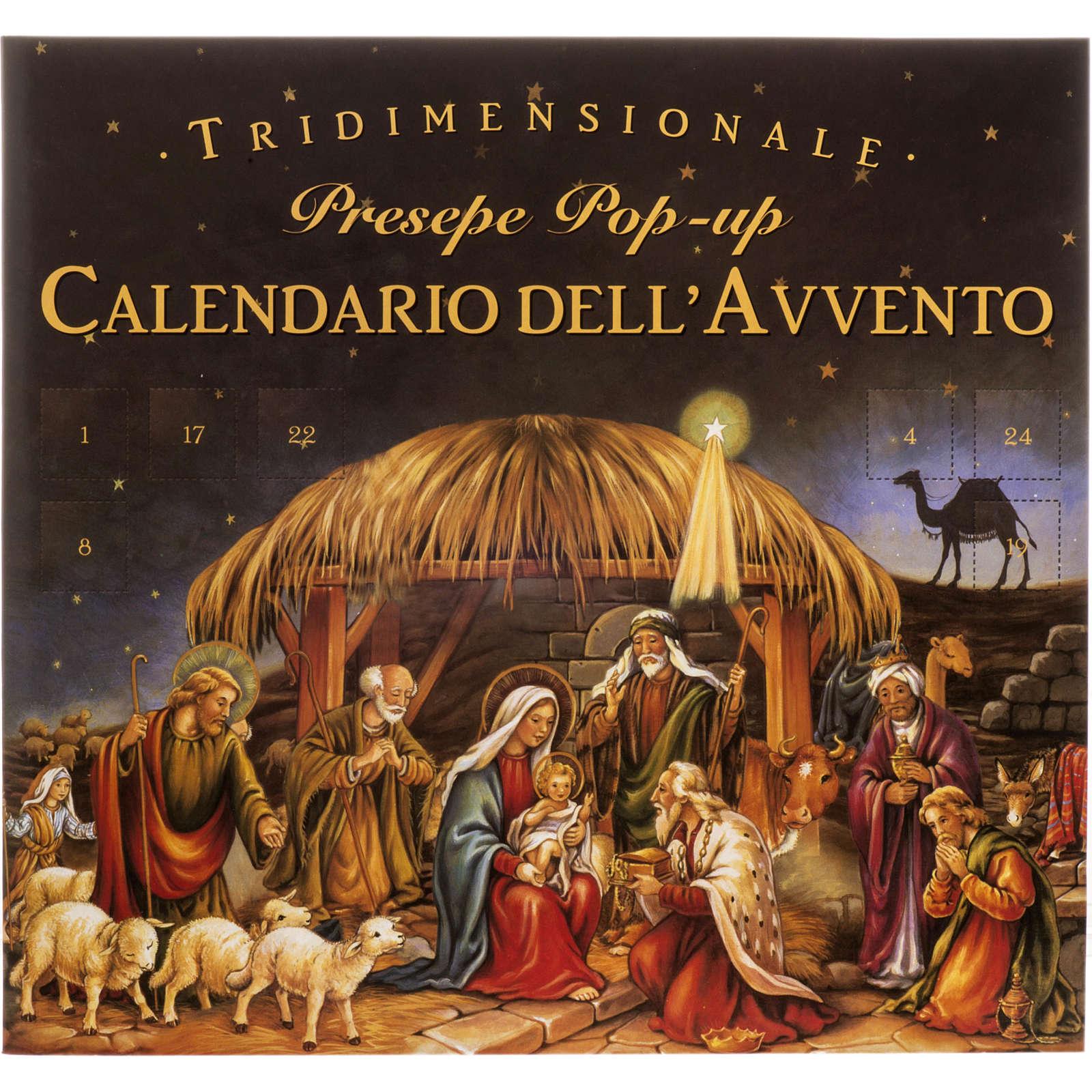 Calendario dell'Avvento presepe Pop Up Tridimensionale 4