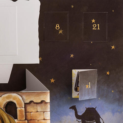 Calendario dell'Avvento presepe Pop Up Tridimensionale 6