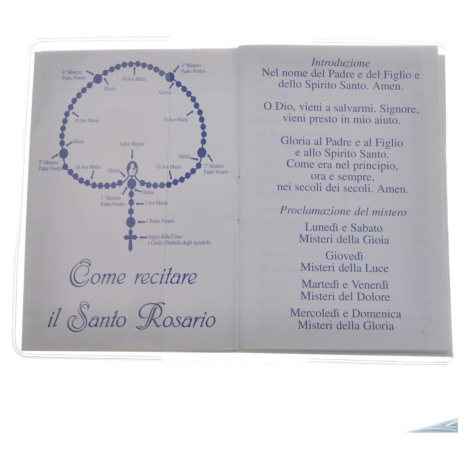 Libretto Santo Rosario san Giovanni XXIII 6,5x9,5cm 4