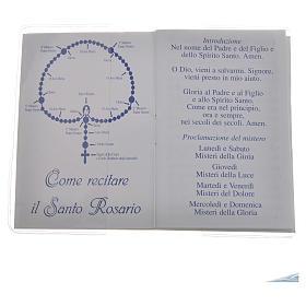 Libretto Santo Rosario san Giovanni XXIII 6,5x9,5cm s2