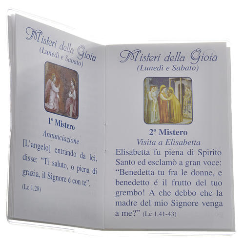 Libretto Santo Rosario san Giovanni XXIII 6,5x9,5cm 3