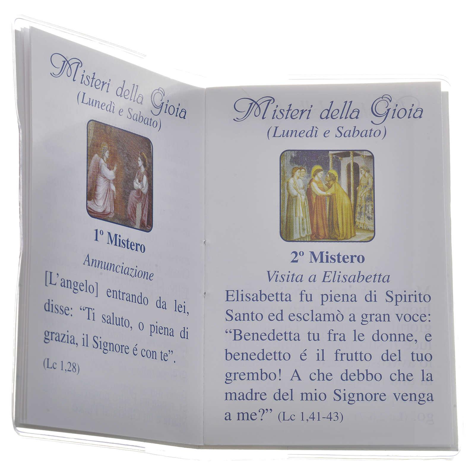 Rosary Leaflet St Jean XXIII image 6,5x9,5cm 4