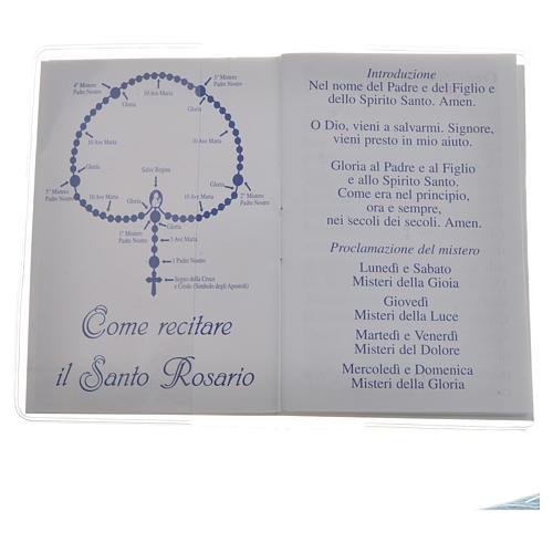 Rosary Leaflet St Jean XXIII image 6,5x9,5cm 2