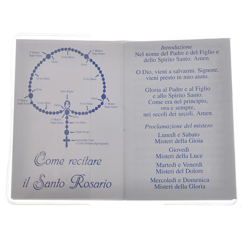 Rosary Leaflet Pope Francis image 6,5x9,5cm 2