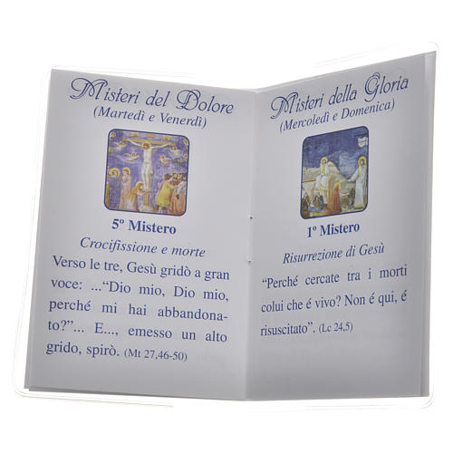 Rosary Leaflet Pope Francis image 6,5x9,5cm 3