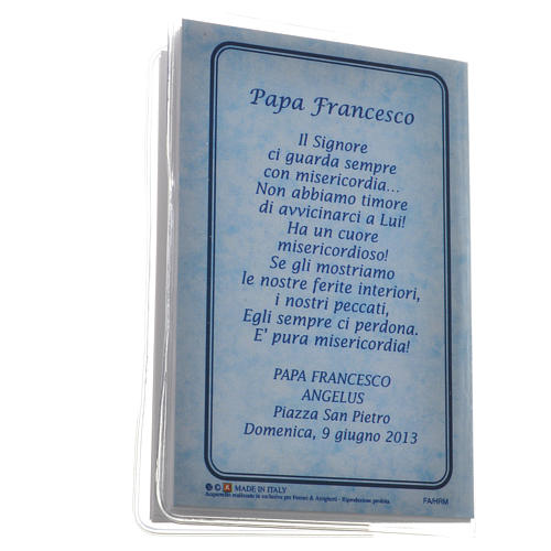 Rosary Leaflet Pope Francis image 6,5x9,5cm 5