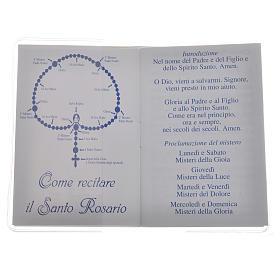 Libretto Santo Rosario 6,5x9,5cm Papa Francesco s2
