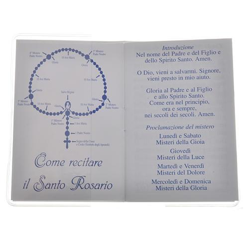 Libretto Santo Rosario 6,5x9,5cm Papa Francesco 2
