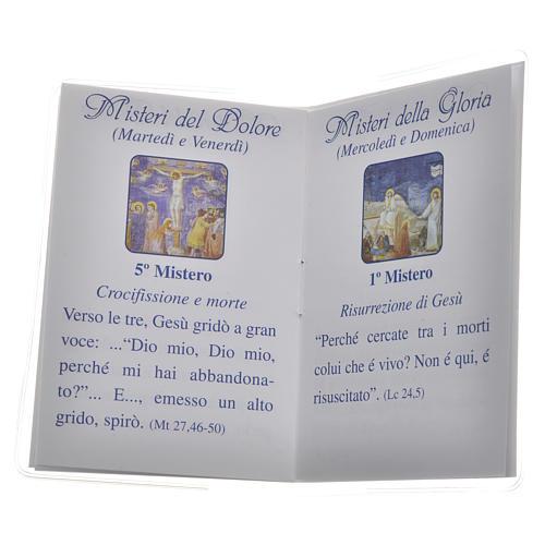 Libretto Santo Rosario 6,5x9,5cm Papa Francesco 3