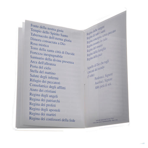 Libretto Santo Rosario 6,5x9,5cm Papa Francesco 4