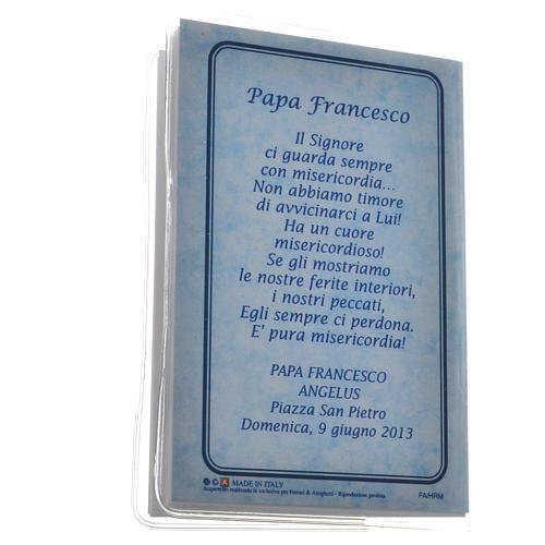Libretto Santo Rosario 6,5x9,5cm Papa Francesco 5
