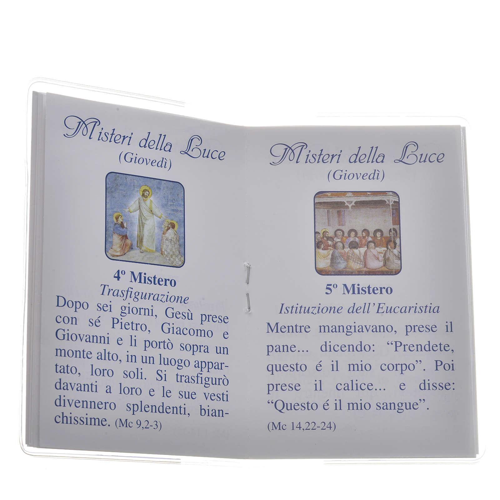 Librito Santo Rosario 6,5 x 9,5 cm San Juan Pablo II 4