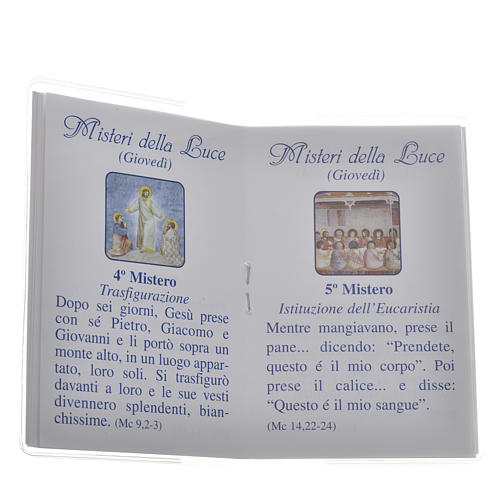 Libretto Santo Rosario 6,5x9,5cm San Giovanni Paolo II 3