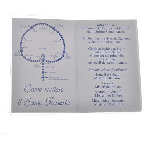 Rosary Leaflet St John Paul II image 6,5x9,5cm 2