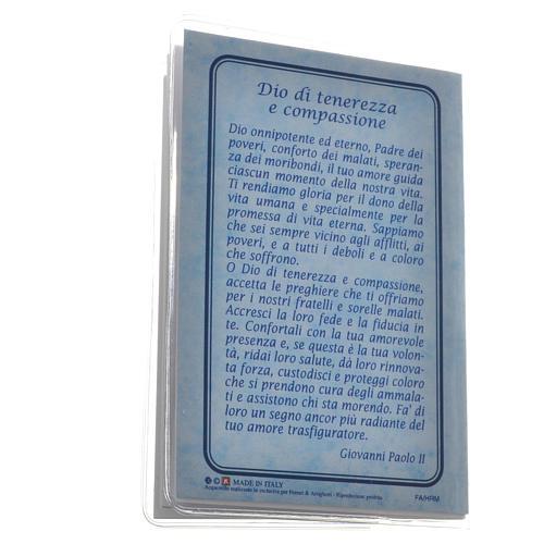 Rosary Leaflet St John Paul II image 6,5x9,5cm 5
