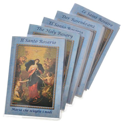 Librito Santo Rosario 6,5 x 9,5 cm Maria que desata los nudos 1