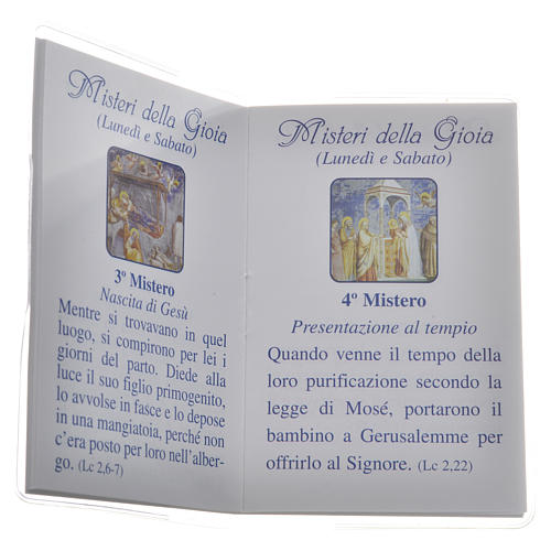 Librito Santo Rosario 6,5 x 9,5 cm Maria que desata los nudos 3