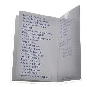 Livre Saint Rosaire Marie qui défait les noeuds 6,5x9,5cm IT s4