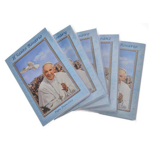 Librito Rosario Papa Francisco con rosario 1