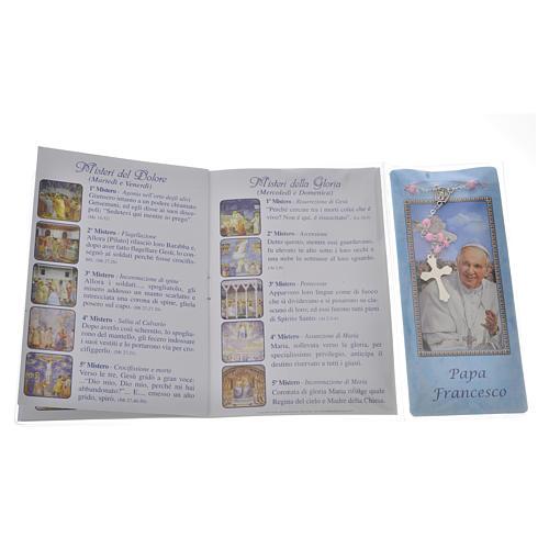 Librito Rosario Papa Francisco con rosario 3