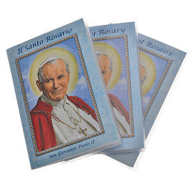 Livre rosaire Saint Jean-Paul II et chapelet IT s1