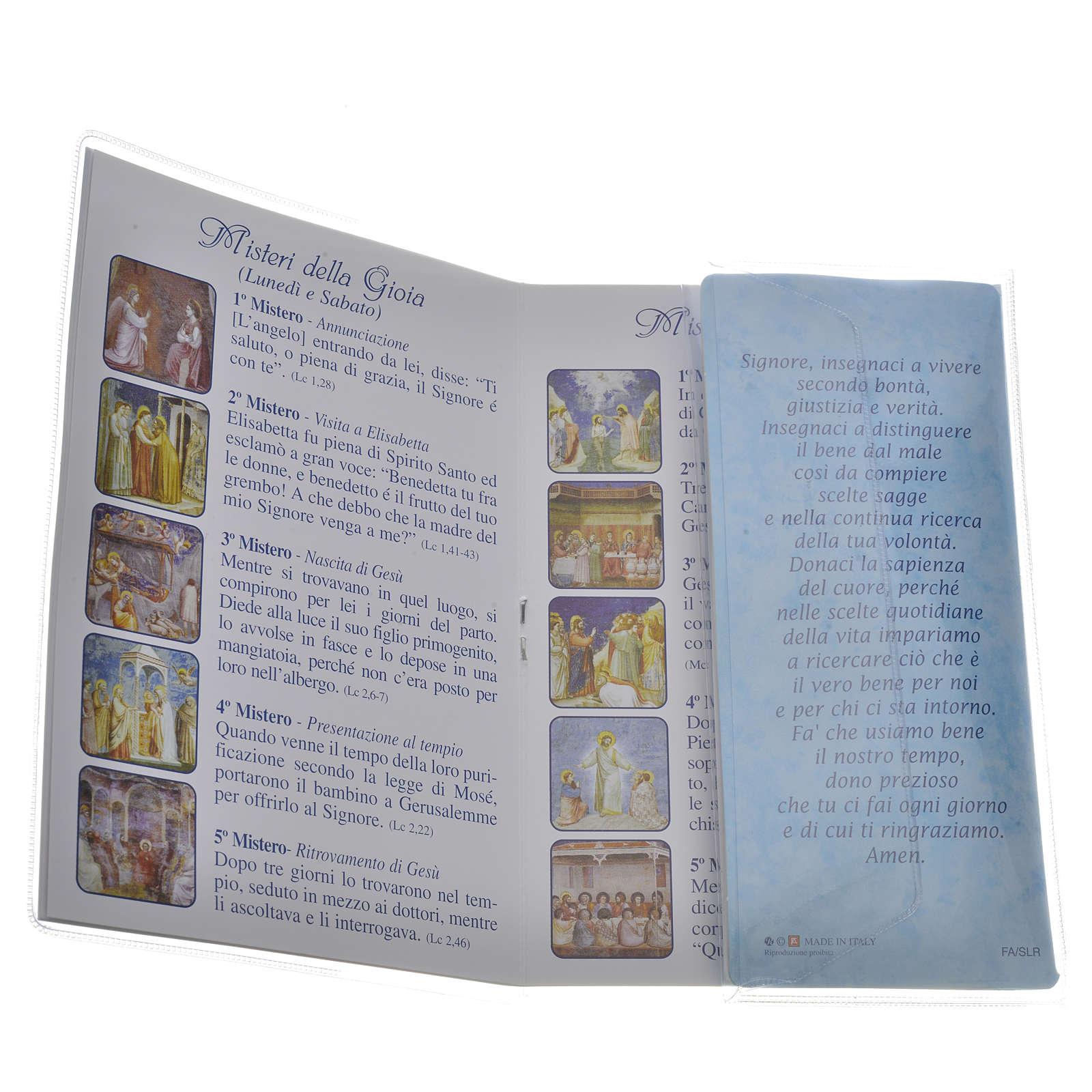 Librito Santo Rosario Maria que desata los nudos con rosario 4