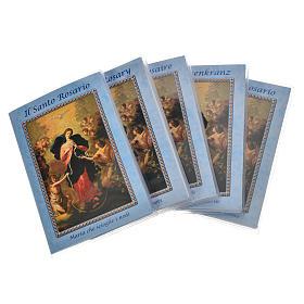 Calendarios y Otros libros religiosos: Librito Santo Rosario Maria que desata los nudos con rosario