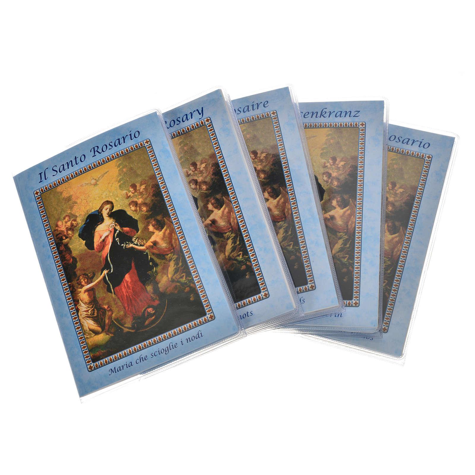 Livre Rosaire Marie qui défait les noeuds et chapelet IT 4