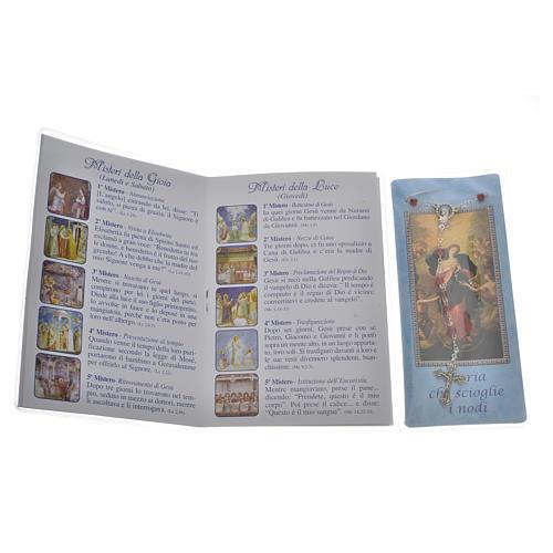Livre Rosaire Marie qui défait les noeuds et chapelet IT 2