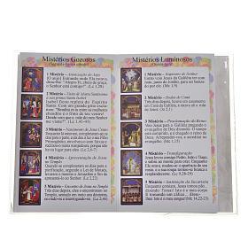 Libretto con rosario O Santo Rosario PORTOGHESE s3