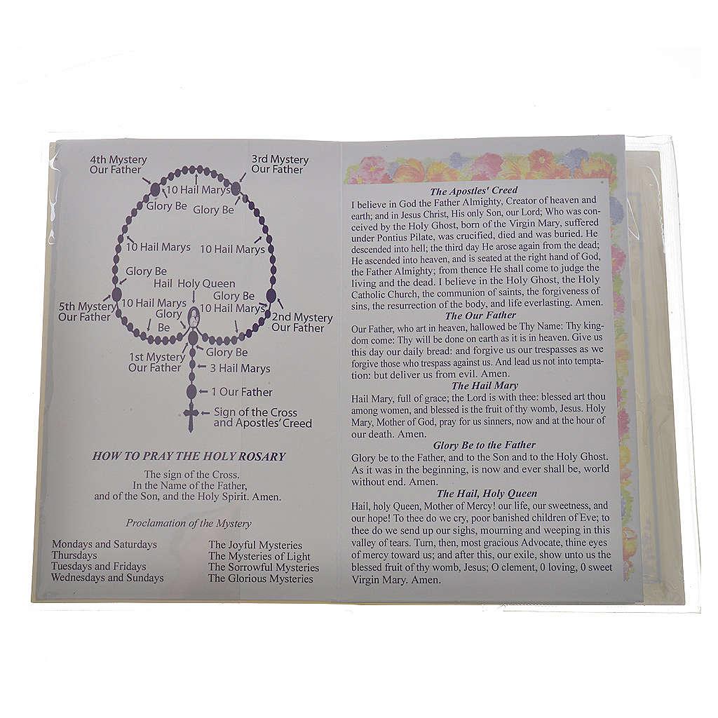 Libretto con rosario Il Santo Rosario Inglese Francese 4